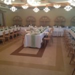 Hochzeitstafel im Hochzeitssaal des Gasthof Schneider in Großhart