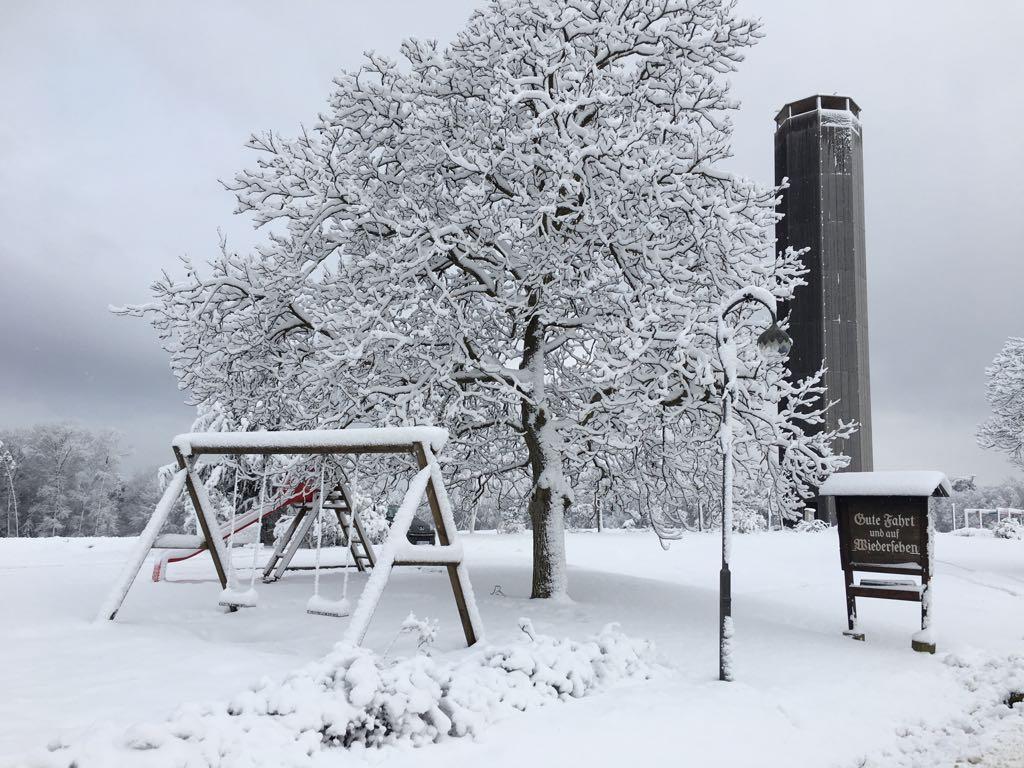 Winter in der Backhendlstation in Auffen