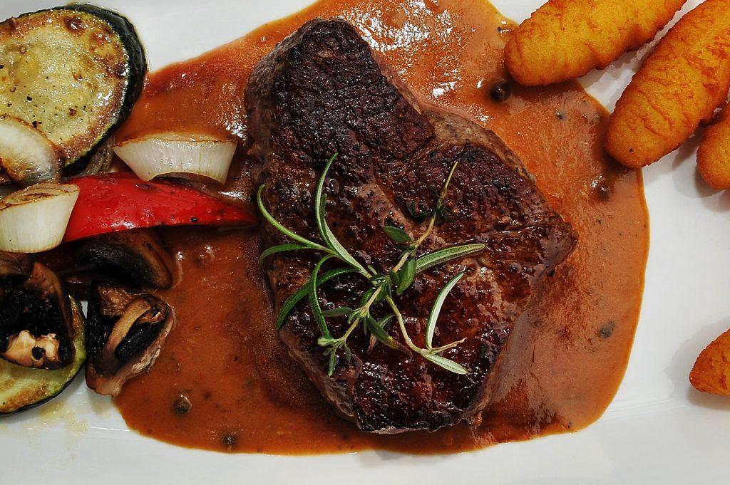 Steak in der Backhendlstation Schneider